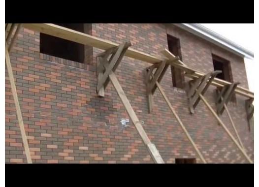 Вузол монтажу даху на висоті