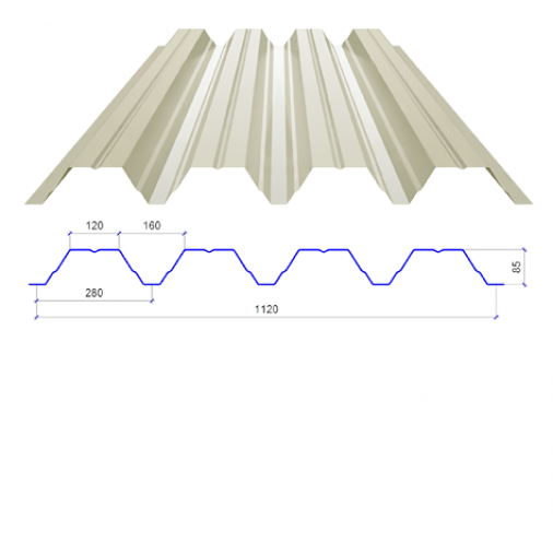 Металопрофіль Н-85 сторона А